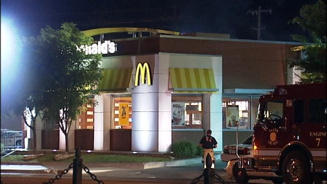 Locked Doors Keep Possible Robbers Out Of Tulsa McDonald's