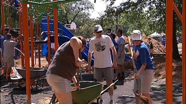Tulsa's Westside YMCA Gets New Playground