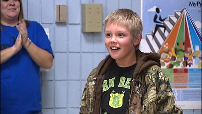 Nowata 5th Graders Surprise Fellow Student Facing Transplant
