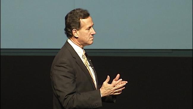 Presidential Candidate Rick Santorum Spends Sunday In Oklahoma