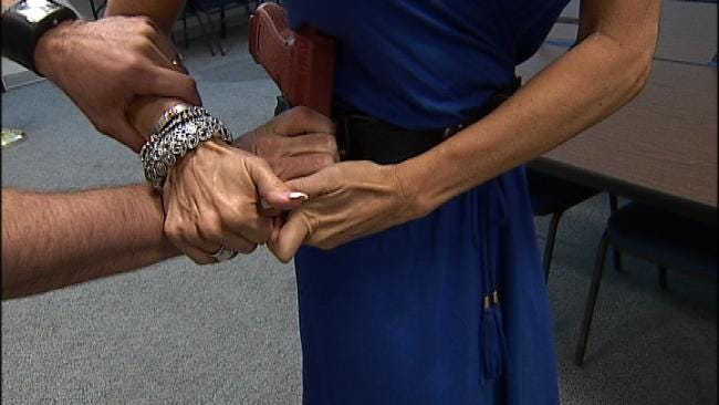 Tulsa County Deputy Demonstrates Gun-Retention Techniques