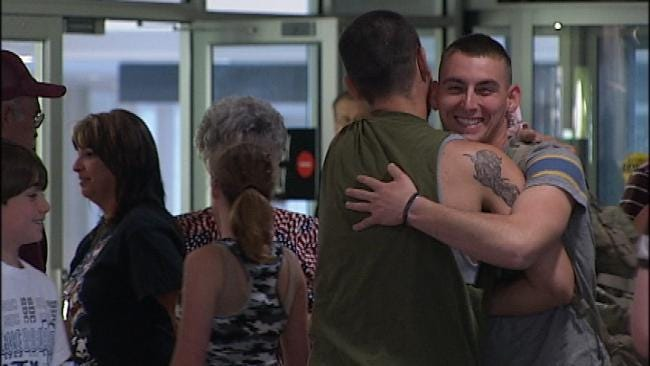 Green Country Soldier Welcomed Home From Afghanistan