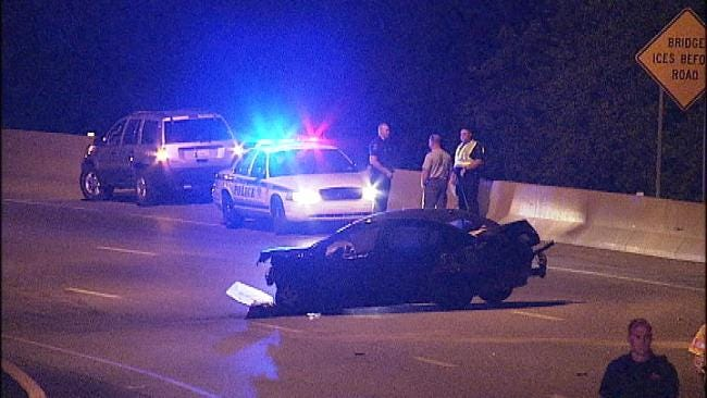 Tulsa Police: Driver Ejected From Car In BA Expressway Crash