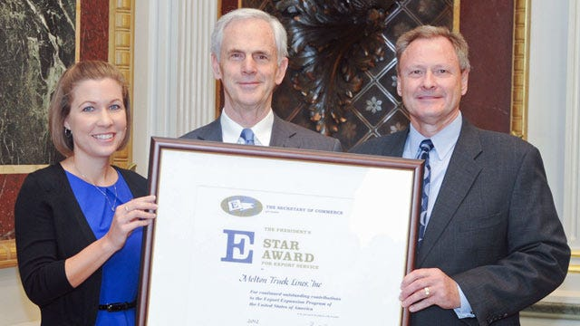 Tulsa-Based Trucking Firm Gets Award From U.S. Department Of Commerce