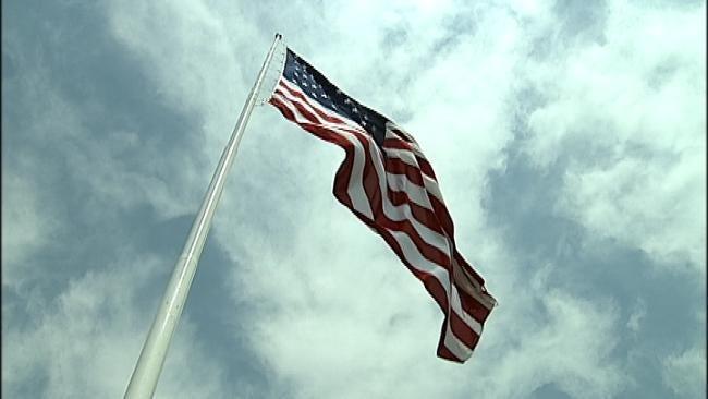 Drumright Celebrates Centennial By Raising Gigantic Community Flag