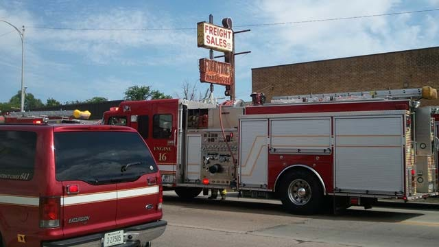 Tulsa Firefighters Battle Flames At Abandoned Warehouse