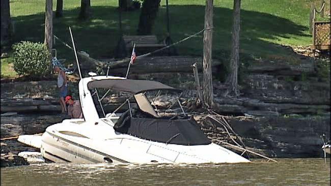 Strong Winds Damages Homes, Boats At Grand Lake