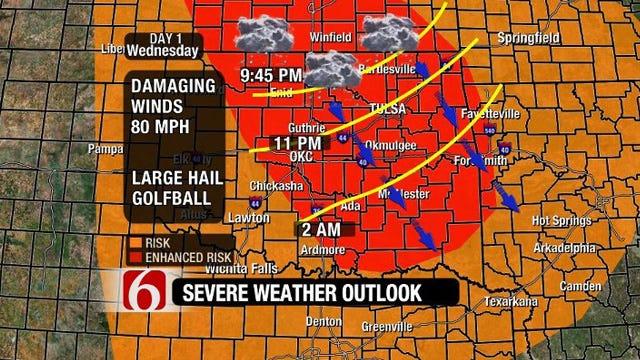 Severe Weather Moves Into NE Oklahoma