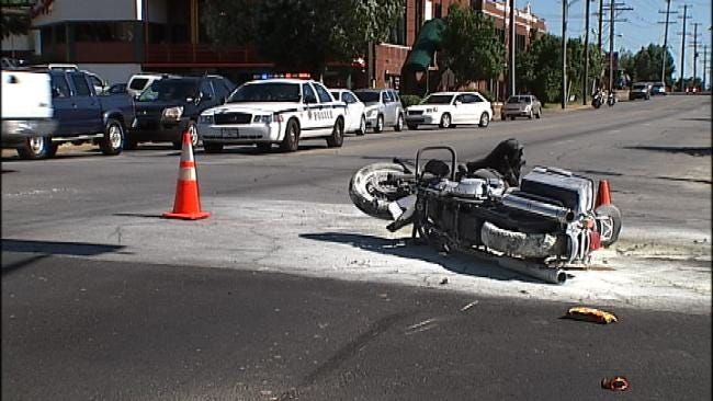 Tulsa Motorcyclist Seriously Injured In Fiery Crash