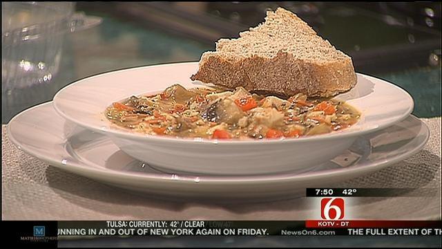Wild Rice, Chicken, And Mushroom Soup