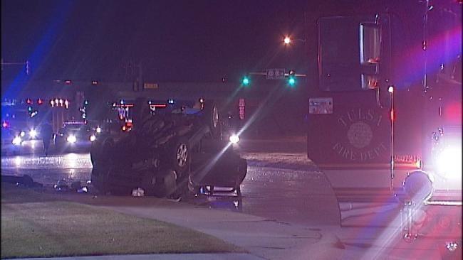 Five Injured In High Speed Tulsa Wreck