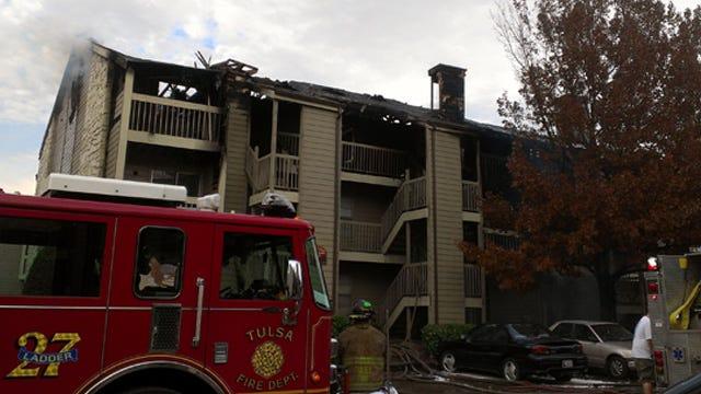 Fire Damages East Tulsa Apartment Complex