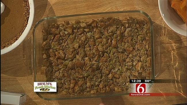 Sweet Potato Casserole with Marshmallows/Stuffing with Sage and Chives