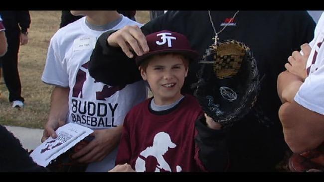 Jenks Players Help Kids With Buddy Baseball Game