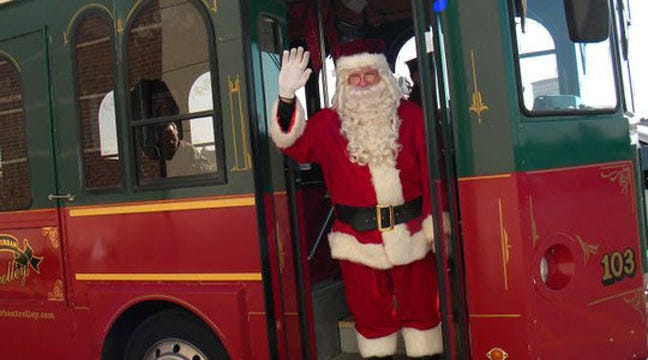 Owasso Holly Trolley Kicks Off Holiday Season