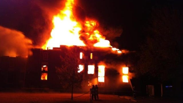 Historic Downtown Vinita Building Goes Up In Flames