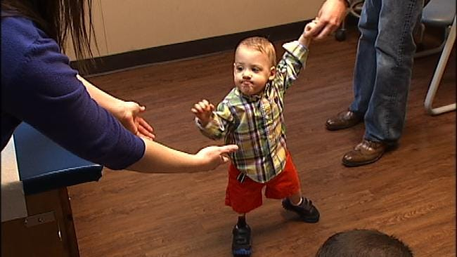 One-Year-Old Boy Walks With Help From Tulsa Prosthetics Clinic