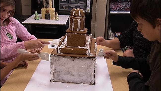 Green Country Kids Recreate Famous Buildings In Gingerbread House Competition
