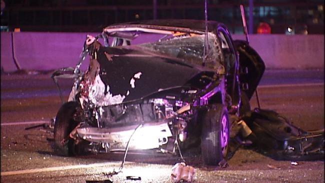 Wrong-Way Crash On I-244 Sends Driver To Tulsa Hospital
