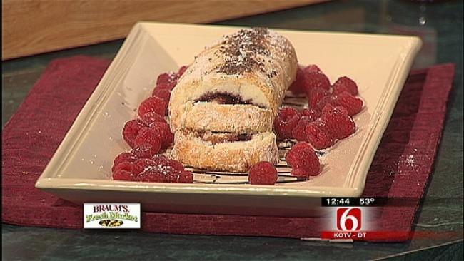 Angel Food Cake Raspberry Jelly Roll