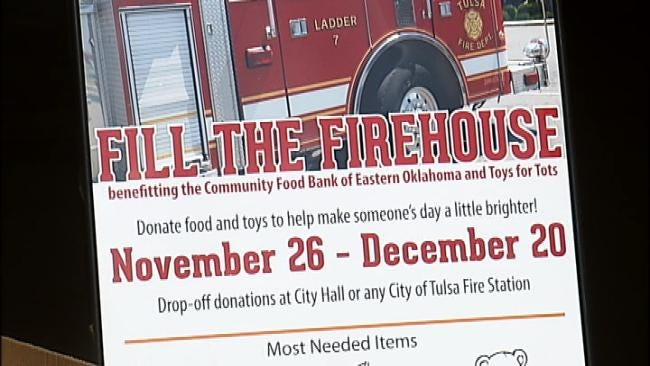 Double Your Food Bank Donation This Season At Any Tulsa Firehouse
