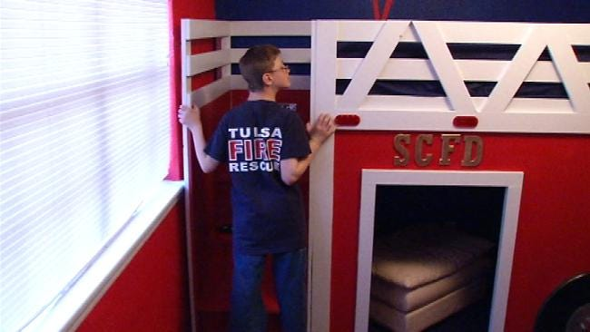 Tulsa Firefighters Remodel Bedroom For Boy With Cerebral Palsy