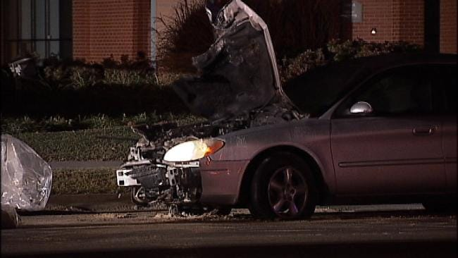 Driver Knocks Out Power In Tulsa Neighborhood