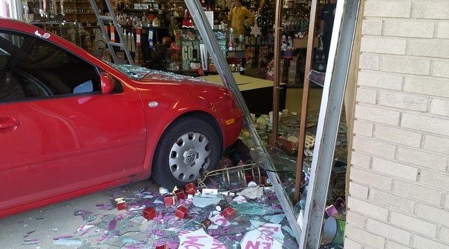 Stalled Car Crashes Into Tulsa Candle Shop