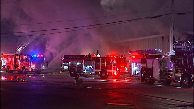Tulsa Business Damaged In Tuesday Morning Fire
