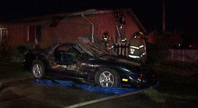 Tulsa Man Arrested After Setting Sister's Car On Fire