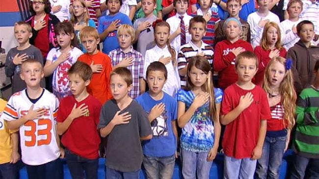 Sand Springs Students Watch As 40 New Americans Take Citizenship Oath