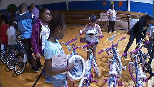 Some Underprivileged Tulsa Get Their Own Bicycles