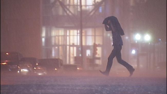 Severe Thunderstorms Hit Eastern Oklahoma