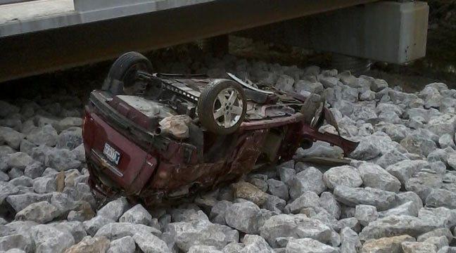 Woman Wrecks At Duck Creek Bridge Near Glenpool