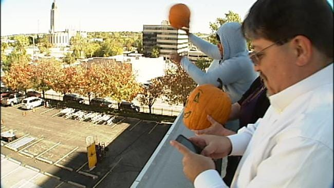 Tulsa Families Chuck Gourds At Great United Way Pumpkin Smash