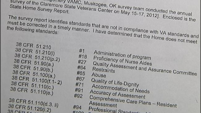 Inspection Reveals Abuse At Claremore Veterans Center