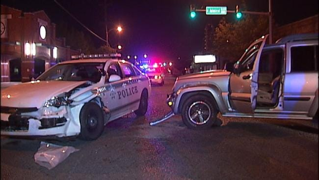Tulsa Police: Driver Under The Influence Collides With Patrol Car