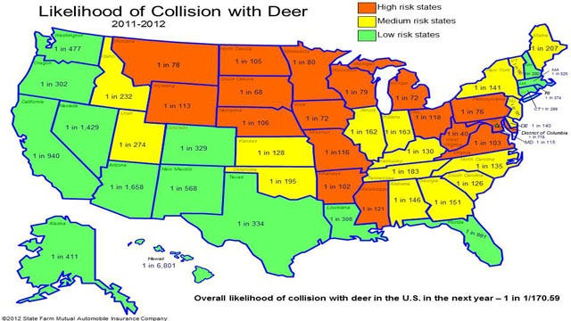 Collisions With Deer Increase In Oklahoma