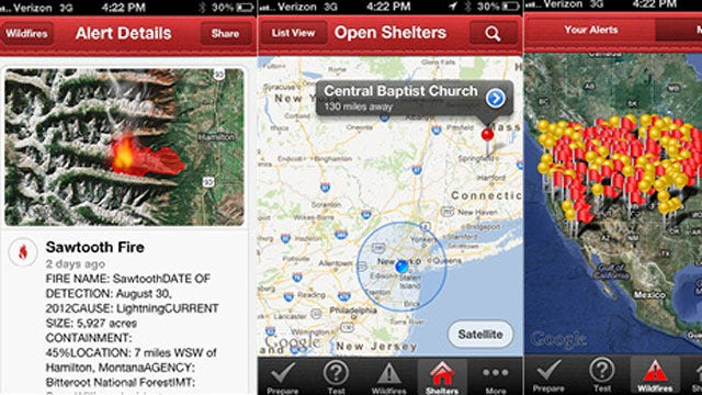 American Red Cross Releases New Wildfire App For iPhone & Android