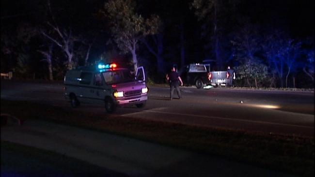 West Tulsa Gunfire Results In Brief Standoff, 2 Arrests