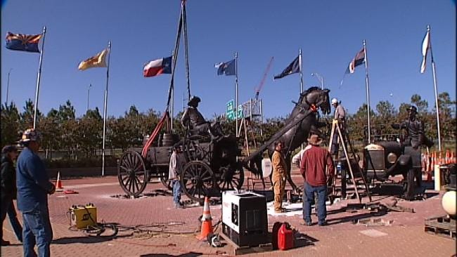 New Sculpture Along Route 66 In Tulsa Nearing Completion