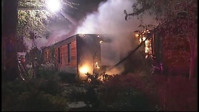 Tulsa Fire: Home Being Remodeled Goes Up In Flames