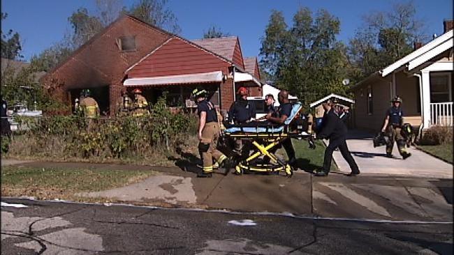 Tulsa Firefighter Injured Battling House Fire