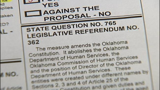 State Question 765 Proposes To Abolish Commission Over DHS