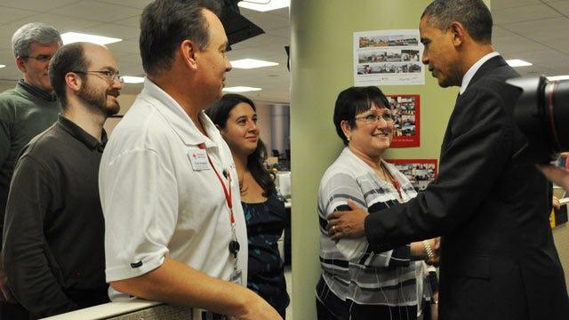 Tulsa Red Cross Volunteer Meets President Obama