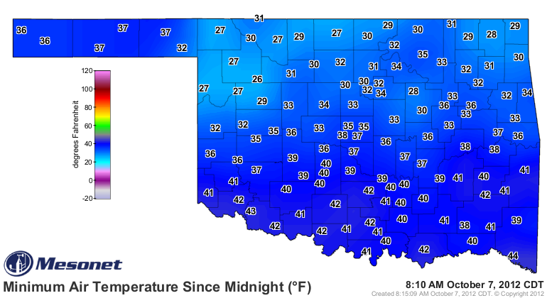 Earliest Freeze on Record This Morning.