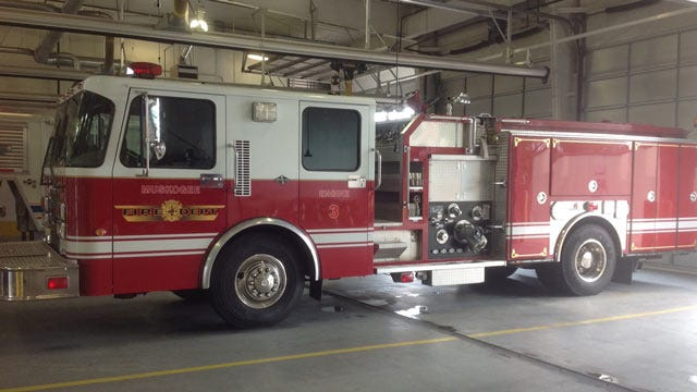 City Of Muskogee Fire Truck Wrapped In Pink