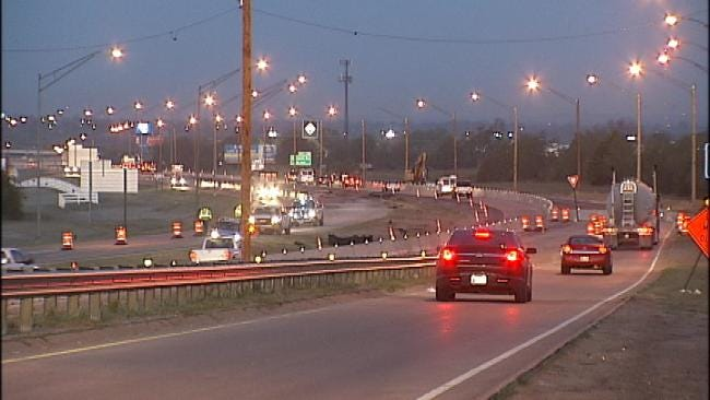 Repaving Project Closes Eastbound Lanes Of I-244 In East Tulsa