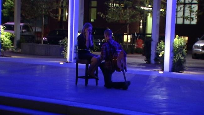 Man Pops The Question At Guthrie Green