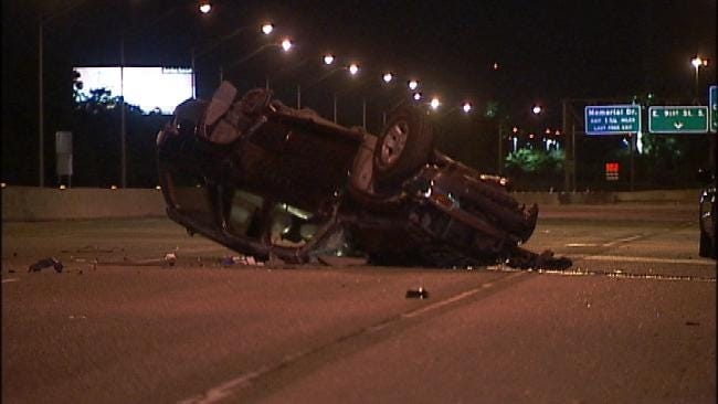 Man Rushed To Surgery In Tulsa Rollover Wreck